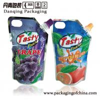 Quality Aluminum Foil Stand Up Spout Pouch   Juice Packaging With Injection Hole for sale