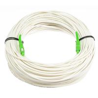 Quality Anti - Bending Fiber Optical Cable Single Mode White Color With LSZH Material for sale