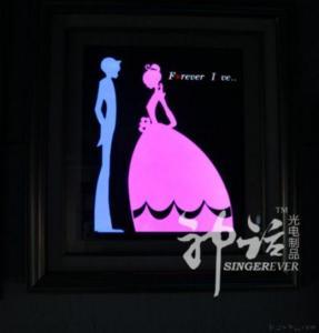 China Led Resin Framed Arts & Crafts on sale