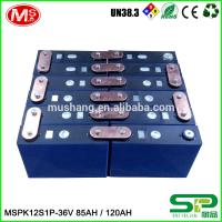 Quality High capacity lifePo4 battery MSPK12S1P LiFePO4 battery pack 36V 85AH 120AH For backup power for sale