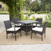 Quality Wholesale Rattan Wicker Furniture 5 Piece Outdoor Patio Dining Set for sale