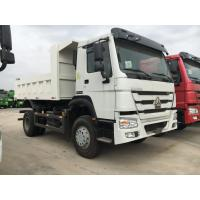 White Professional Heavy Duty Dump Truck 6 Wheeler For Middle Lift System