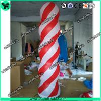 Quality Event Party Decoration 3m Inflatable Column Pillar With LED Light for sale