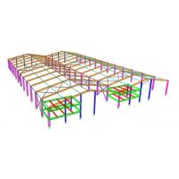 Portal Steel Frame Structural Engineering Designs , Normal / Special Structure Type