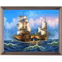 Hand painted shipping boat oil painting on canvas for sale for Oil paint price