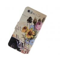 China Credit Card Slot Leather Wallet For Iphone 5 5s With Retro Gothic Picture Style on sale