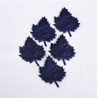 Quality Dark Blue Christmas Party Crafts Diy Ultrasonic Embossing Maple Leaf Ornament for sale