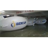 China 6m Long Helium Inflatable Blimp White For Advertising Promotion Fire Resistance on sale