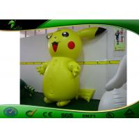 China 2m Tall Inflatable Cartoon Characters Pikachu Mascot Costume For Promotion on sale