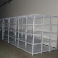 China Adjustable Slotted Angle Steel Shelving, Combined Angle Steel Rack on sale