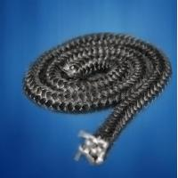 Buy cheap Black / Grey Oven Door Sealing Rope , Glass Fibre Rope With Ceramic from wholesalers