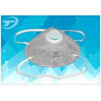 Quality Gray Respirator Dust Mask Ffp2 With Activated Carbon , Single Use EN149 Certified for sale