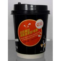 Quality Slipproof Double Wall Disposable Paper Cups With Corrugated Paper Outside for sale