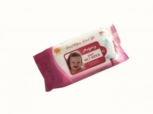 Quality 45 Gsm Cleaning Baby Wet Wipes 99.9% EDI Purified Water Perfume Free for sale