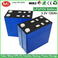 Quality Long life cycle lifepo4 battery cell 3.2V 120Ah for solar energy for sale
