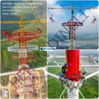 China Self Supporting Steel Tubular Tower Hot Dip Galvanization Or Painting Surface on sale