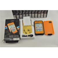 China Orange / Black Protective Waterproof Cell Phone Case Life Proof For Iphone 4s on sale