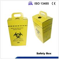 China 5L Safety box, Disposable Medical Cardboard Safety Box, Safety Box For Syringe,Needles and sharps, 5 Liters on sale
