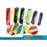 Buy Casino Style Numbered Poker Chip Set Bright Color With Customized Print Logo at wholesale prices