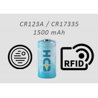 Quality CR123A 1500mAh CR17335 Industrial Lithium Primary Battery For Smoke Detectors for sale