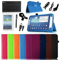 China Leather Case Cover for Samsung Galaxy Tab 3 8.0 8 Tablet + Bluetooth Keyboard on sale