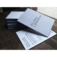 China Premium Letterpress Painted Edge Business Cards , Construction Business Cards for sale