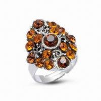 Quality Ring, Made of 925 Sterling Silver, Decorated with CZ Stone for sale