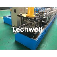 PPGI, Galvanized Steel Guide Rail Roll Forming Machine With Disk Saw Cutting For