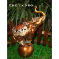 Quality Resin Elephant Figurines Home Decorations Standing With Pearls 18 X10 X 30 Cm for sale
