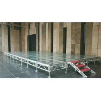 Transparent Glass Aluminium Stage Platform Folding Anti - Skidding With Locking Connection