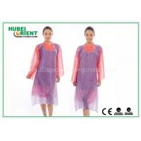 Quality White Waterproof and Dustproof Disposable Aprons PVC Material With Punched Neck Opening for sale