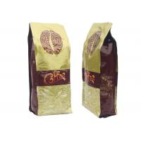 China Side Gusset Custom Coffee Bean Bags Aluminum Foil Material 8OZ / 17OZ / 35OZ With Valve on sale