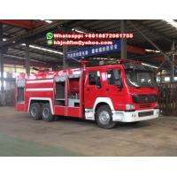 Buy cheap Sinotruck HOWO 6X4 Water tank/ water foam fire truck sell Philippines from wholesalers