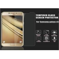 Quality Toughened Glass Golden Samsung C5 Screen Protector Film 2.5 D Impact Resistant for sale