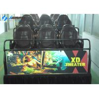 Quality Multiplayer 7D Cinema Simulator Electric System Brown Black Yellow ODM Accepted for sale