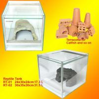 Buy Aquarim Terracotta/Red Pots/Reptile Tank Snake/Spider/Lizard at wholesale prices