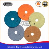 Quality 5 Step Dry Use Diamond Floor Polishing Pad With Resin Bond Material DSC-100 for sale