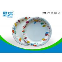 Buy 9 Inch Colored Disposable Paper Plates With Shiny Oil Coated Surface at wholesale prices