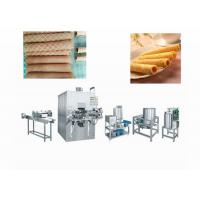 Quality 1000KG Pastry Making Equipment , Automatic Multi - Function Filling Egg Roll Wafer Stick Machine for sale