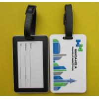 China Eco Friendly Soft PVC 2D Design Luggage Tag with Logo for Promotion on sale