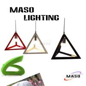 2015 Summer NEW Maso Modern Triangle Resin Pendant Light Red White Black Color MS-P1053