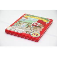 Quality Aluminum Child Red Pantone Gift Card Tin Box 0.21 ~ 0.30 mm Thickness for sale