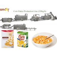 Quality Professional Corn Flakes Production Machine Extruded Maize Flake Machinery for sale