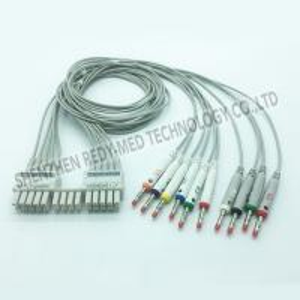 China Banana Plug TPU 10 Leads 0.47lb Holter ECG Cable on sale