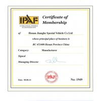 Henan Jianghe Special Vehicle Technologies Co.,Ltd Certifications