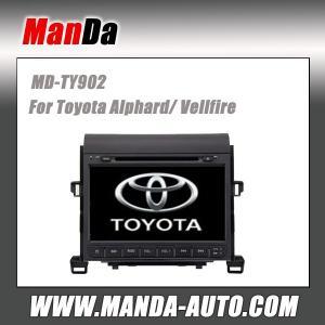 Quality hot sell car radio for Toyota Alphard/ Vellfire in-dash dvd original car gps navigation system for sale