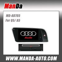 Quality double din car multimedia for Audi Q5 ( 2009-2013 )/ A5 car gps navigation system satellite radio for sale