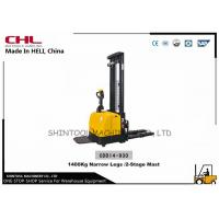 Buy cheap Full Electric Hydraulic Stacker 1400KG with Narrow Legs for moving cargo in warehouse from wholesalers