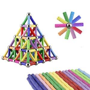 China Kellin Magnetic Toys 130 Pieces - Magnetic Building Sticks Building Blocks Set Educational Toys Magnetic Blocks Sticks on sale