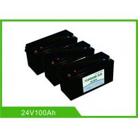 Quality 100AH 24V Deep Cycle Lithium Battery , UPS Rechargeable Lifepo4 Battery Bluetooth Communication for sale